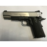 Colt 1911 Rail Gun Stainless Dual tone Co2
