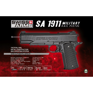 Swiss Arms 1911 Military 4.5 mm Co2