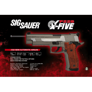 Sig Sauer P226 X-Five Stainless 4.5 mm Co2
