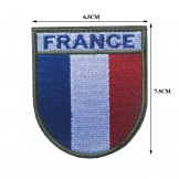 Patch ecusson FRANCE basse visibilité